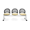 Moon 3-Beam Seating with 3 Seats, Golden Flax